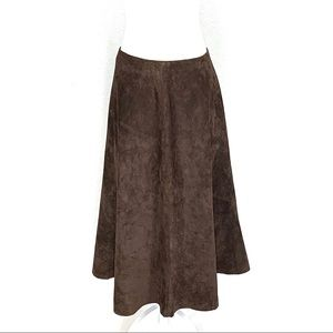 Charter Club Brown Suede Skirt 8